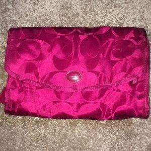 Coach travel cosmetic bag
